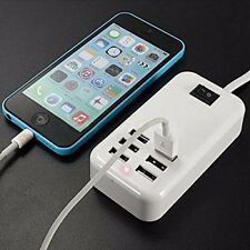 6 Port USB Desktop Multi-Function Fast Wall Charger Station AC Power Adapter USA
