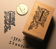 Monogram Letter I rubber stamp  WM P41