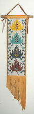 NATIVE AMERICAN LOOMED STYLE BEADWORK WALL TAPESTRY  SAN GABRIEL GABRIELINO PACE
