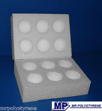 10 POLYSTYRENE EGG BOXES HATCHING / INCUBATION SMALL 100MM PACK / 50MM EACH HALF
