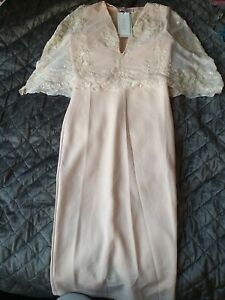 Club London Nude Cape Sequin Occasion Dress Size Uk10