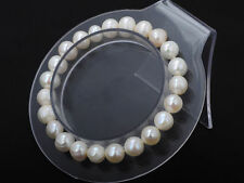 1Pc Natural Freshwater Pearl Bracelet Pure White Stretch Bridal Bangle Wedding