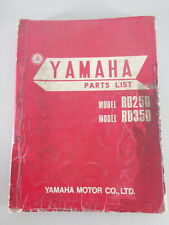 Spare Parts List / Parts Catalogue Yamaha Rd 250 / Rd 350 From 12/1972