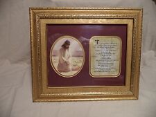 "Framed ""The Lord Is My Shepherd"" Picture With Music Box ""What A Friend"""