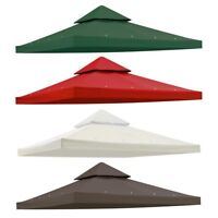 9.76'x9.76' Gazebo Top Canopy Replacement UV30 Sunshade Cover for 10'x10'  Frame