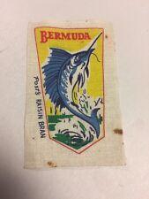 Post's Raisin Bran Cloth Patch Bermuda