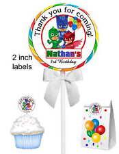 40 PJ MASKS BIRTHDAY PARTY LOLLIPOP STICKERS ~ goody bags, seals ETC