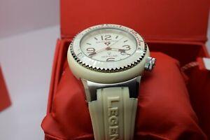Swiss Legend Men's Neptune Cream Dial Silicone Watch (52mm case) 21818P-16