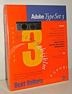SEALED NEW Adobe Type Manager & Type Set 3 Fonts for Vintage Apple Macintosh