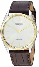 Citizen Eco-Drive Stiletto Men's Gold Tone Case 38mm Watch AR3074-03A