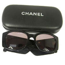Authentic CHANEL Vintage CC Logos Sunglasses Eye Wear Black Plastic NR07187
