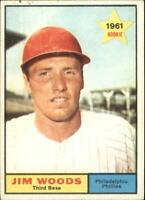 1961 Topps Philadelphia Phillies Baseball Card #59 Jim Woods - EX