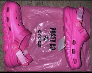 Pink Post Malone Crocs Women's Size 9 Men's size 7