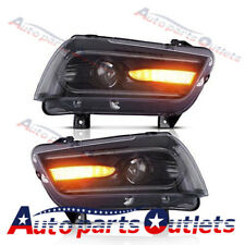 LED 2015 Model Headlights For 11-14 Sequential Turn Headlights Projector Lamps