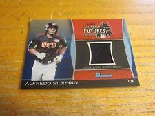 Alfredo Silverio 2011 Bowman Draft Future's Game Relics Blue #AS #'d 185/199 MLB