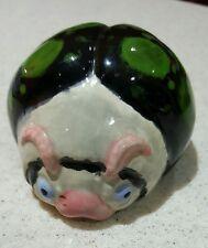 Super Cute Vintage Hand Painted Ladybug Ceramic Figurine