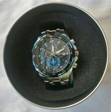 Casio Edifice Blue Silver Chronograph Men's Watch EFR-539D