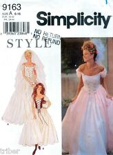 Misses' Renaissance Laced Wedding Prom Dress Sewing PATTERN Sizes 6-16 #9163