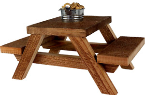 Squirrel Picnic Table - Tin Bucket Included