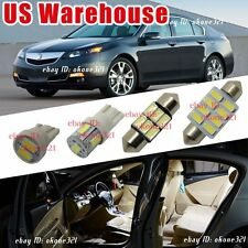 14-pc Bright White Interior Map Dome LED Light Package Kit For Acura TL 09-2014