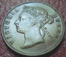 1897 STRAITS SETTLEMENTS 1 CENT IN AU CONDITION