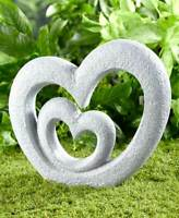 Double Heart Garden Sculpture Memorial Love Outdoor Home Decor Patio Lawn Yard