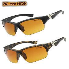 XLOOP SPORT HD Visione Notturna Guida Occhiali da sole Giallo Occhiali ad alta definizione