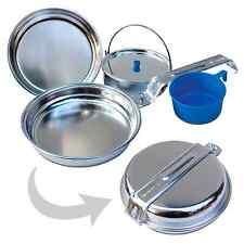 4 pièces aluminium ustensiles de cuisine set pour 1 personne Extérieur Camping ALU vaisselle