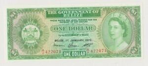 BELIZE  P 33c  QUEEN ELISABETH II  1 DOLLAR  1976  UNC