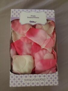 Wilton Faux Silk Rose Petals Pink And White 250 In Pack