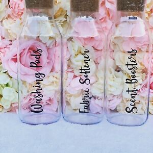 Personalised 1L Glass Bottle With Cork Stopper x1 home/laundry/bath/pets