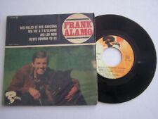 EP 45 T VINYLE , FRANK ALAMO , DES FILLES ET DES GARCONS . VG / EX .