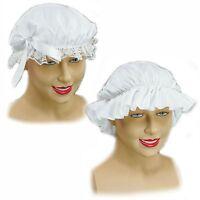 VICTORIAN MAID WHITE MOB CAP FANCY DRESS COSTUME ACCESSORY TUDOR BOOK WEEK DAY