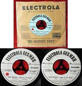 Single Max Roach: Jazz in 3/4 Time (Electrola RJ 41097) D 1959 Promo