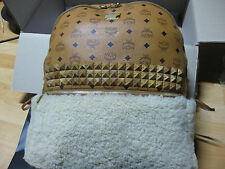 MCM&Phenomenon Wood studs Wool Backpack #MMK2AJP81 CO001 Limited Edition