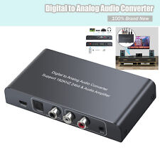 192kHz Audio Converter,Digital Coaxial Toslink Optical to Analog Stereo L/R RCA