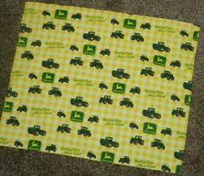 Yellow John Deere Tractor Fabric FQ