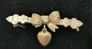 Poignant WWI 1915 sterling silver sweetheart brooch