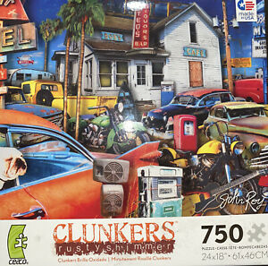Clunkers Rusty Shimmer Ceaco 750 Piece 2013 Puzzle Clunkers 24x18