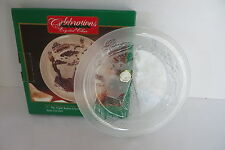 Celebrations Crystal Clear 7in. The Night Before Christmas Frosted Plate NIB