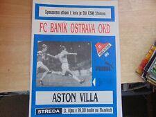 UEFA Cup 1990/1 Banik Ostrava Czechoslovakia v Aston Villa