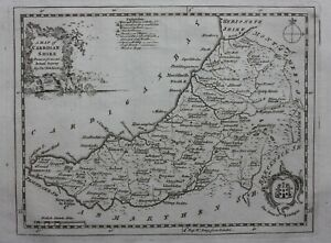 CARDIGANSHIRE, WALES, original antique county map, THOMAS KITCHIN, 1769