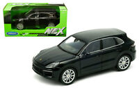 WELLY  1:24 SCALE BLACK PORSCHE CAYENNE TURBO  DIECAST CAR MODEL  24092BLK