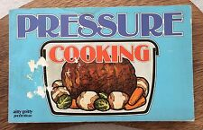 Pressure Cooking Vintage '77 Cookbook Nitty Gritty Textured Illustrated Paper
