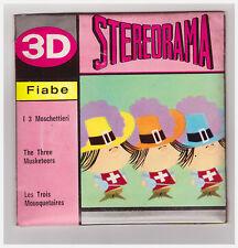 STEREORAMA I 3 MOSCHETTIERI DA FILM IN ITALIANO FS 16 - 17 - 18 - 19 VIEW MASTER