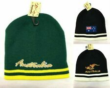 New Adults Men's Beanie Warm Hat Australian Souvenir Beanie Kangaroo Green Flag