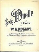 Mozart ~ 6 Duette op. 75 für 2 Flöten Nr. 1-3 KV 156