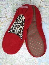 Women's Red Slippers (Size- UK3.5-5) Leopard Print