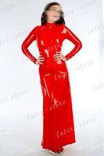 652 Latex Rubber Gummi Long Dress One-piece Robe skirts customized 0.4mm catsuit