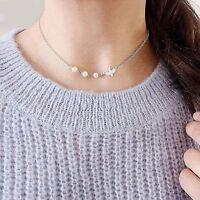 Kette Vogel Schwalbe Perlen Sommer Halskette Chocker Silber Gold